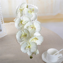 Orchid artificial flowers DIY Artificial Butterfly Silk Flower Bouquet Phalaenopsis Wedding Home Decoration Flowersjjps