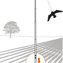 Отпугиватель Птиц черный воздушный змей в форме ястреба, Летающий большой орел птица Scarer воздушные змеи чучело манок для фермы сад птица борьба с вредителями