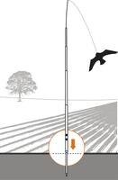 Bird Repeller Black Hawk kite,flying large eagle Bird Scarer Kites Scarecrow Decoy for Farm Garden Bird Pest Control
