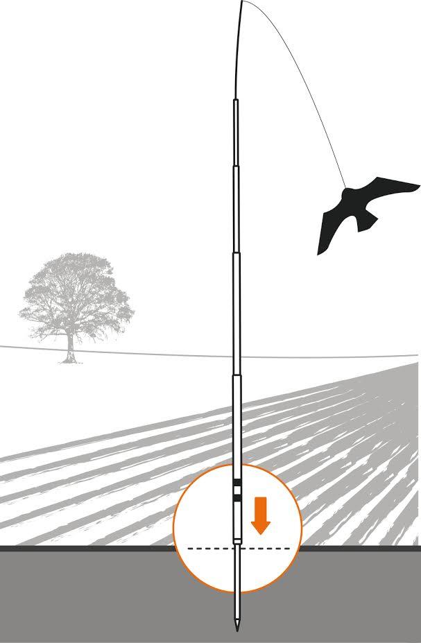 Vogel Repeller Schwarz Hawk kite, fliegen großen adler Vogel Scarer Drachen Scarecrow Decoy für Bauernhof Garten Vogel Schädlingsbekämpfung