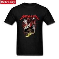 Hip Hop Apparel Metallica T Shirt Men S Heavy Metal Rock Tee Homme Tee 3XL 100