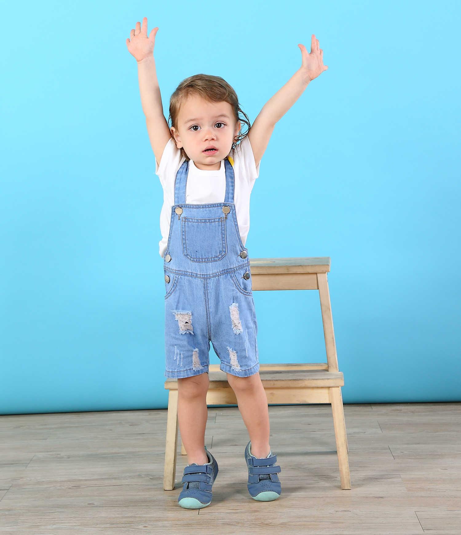 Chumhey/короткие комбинезоны для малышей летние тонкие джинсы для мальчиков и девочек детский комбинезон Одежда для младенцев Bebe Одежда детские шорты