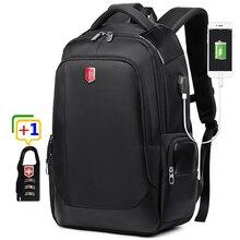 RUISHISABER Brand New 15 inch Laptop Backpack Women USB Charging Travel Backpack Men Oxford Waterproof Backpacks School Mochila