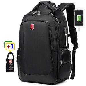 Image 1 - RUISHISABER Brand New 15 inch Laptop Backpack Women USB Charging Travel Backpack Men Oxford Waterproof Backpacks School Mochila