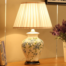 Simple Modern Orchid Paiting Ceramic Table Lamp Indoor Lighting Wedding Gift Direct Home Entertainment Lighting