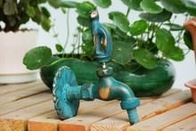 European / Garden / animal / Antique / lovely / washing machine faucet cat Leopard HOT SALE!(China)