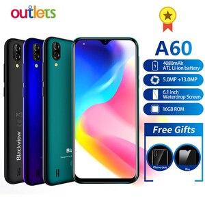 Мобильный телефон Blackview A60, 6,1-дюймовый экран Waterdrop, 4080 мАч, Android 8,1, смартфон с 13-мегапиксельной задней камерой, 16 ГБ, четырехъядерный MT6580