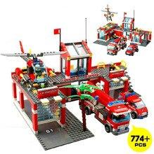 KAIZI Super Large Fire Station Building Blocks plastic Model Kit Kids Gifts Education Bricks Toys Sets Compatible with Lepin
