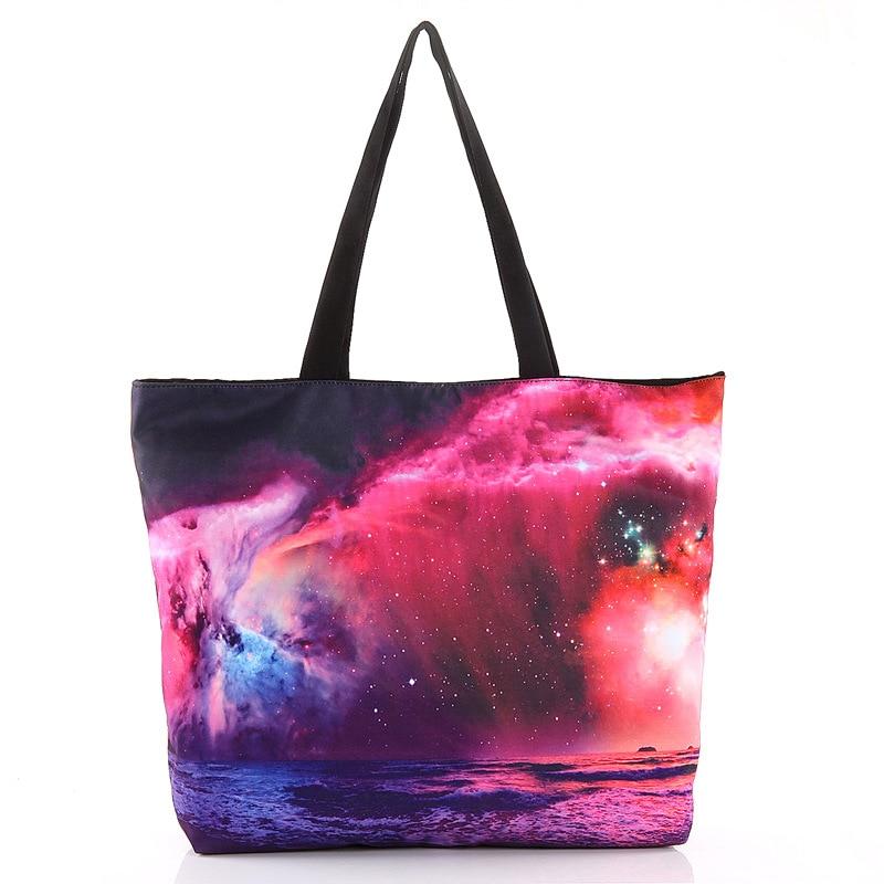 הדפסה חדשה גלקסי כוכב כתף תיק תיק נשים - תיקי יד