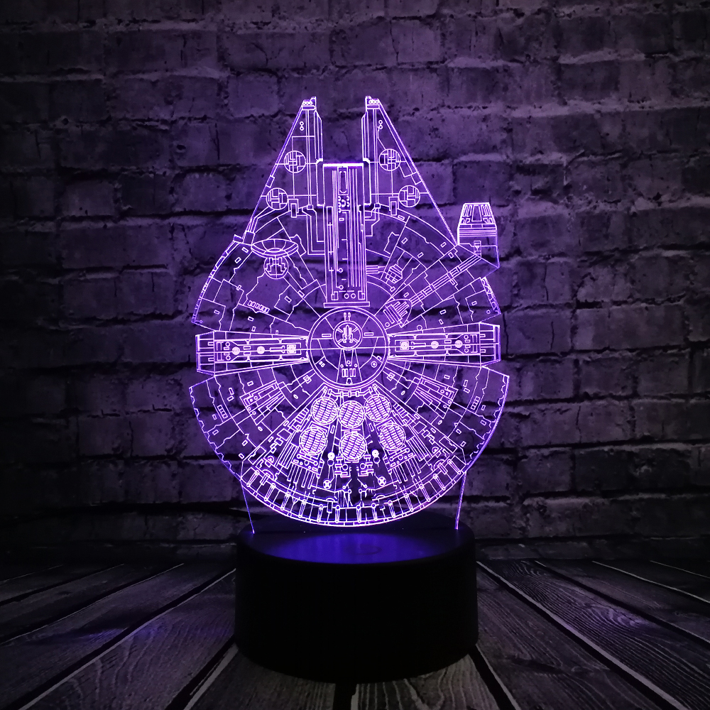 Star Wars UFO BB8 R2D2 3D LED Lámpara Cool Boy Dormitorio Luz de - Luces nocturnas - foto 3
