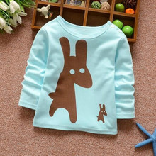 New fall 2016 cotton long-sleeved T-shirts for children 1-5 years old boys and girls bottoming shirt long-sleeved T-shirt