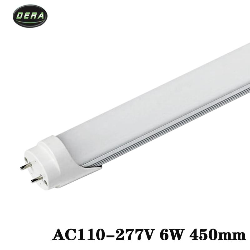 50 25PieceT8 1 5ft Led tubes light 450mm home lighting 6w AC110 277v fluorescent lamp SMD2835
