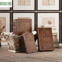 Europeu vintage livros miniaturas casa falso antigo livro decoração figurinhas estudo fotografia adereços retro nostálgico móveis