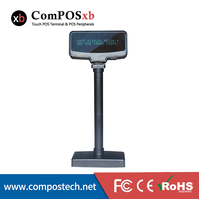 Restaurant Electronic Price Hot Selling USB Port Small Alphanumeric VFD Customer Display