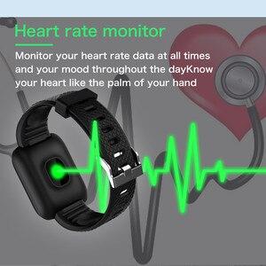 Image 3 - Smart Uhr Männer Blutdruck Herz Rate Monitor Milanese Edelstahl Smart Armband Sport Fitness tracker Smart uhr + Box