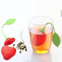1 шт. кухонные принадлежности ситечко для чая нетоксичное в форме клубники Силиконовое ситечко для заварки чая пакетик чайник аксессуар