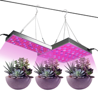 Led Grow Light Full Spectrum Aquarium 25W 45W 1000Lm 1500Lm Led Grow Panel Light With Eu/Us Plug Fitolampy For Plants Growth
