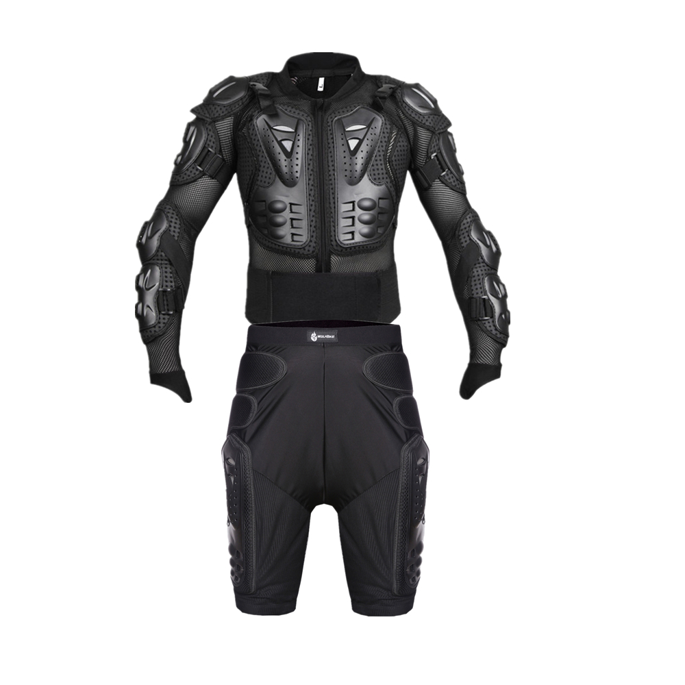 Wosawe motorcycle body protection Armor motorcycle pants set Motocross Jacket Protector Chest Back Protector protective Gear set herobiker motorcycle riding body armor jacket knee pads set motorcross off road racing elbow chest protectors protective gear