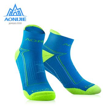 AONIJIE E4090 Outdoor Sports Running Athletic Performance Tab poduszka treningowa ćwiartka skarpety uciskowe Heel Shield Cycling tanie i dobre opinie SOCKS Bieganie
