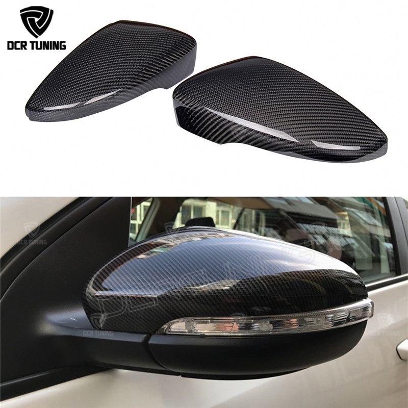 цена на 1:1 Replacement Carbon fiber look For Volkswagen VW Golf 7 MK7 R Gti Side Caps & Golf 6 GTI R20 mirror cover & for VW CC Passat