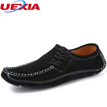 Cow Suede Leather Shoes Men Spring Autumn Fashion Flats Driving Handmade Soft Leather Men Casual Shoes Scrub Zapato Moccasins 11