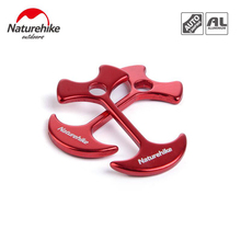 NH 4pcs Outdoor Tent Peg Nail hooks 6061 Aluminum  Wind Rope Anchor Linked Fishbone peg Nails rope tied buckle