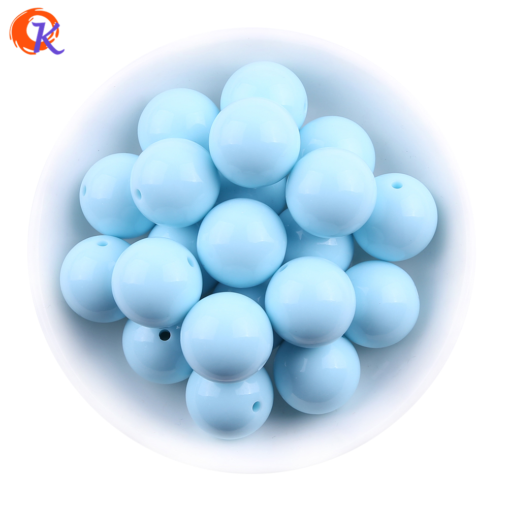 S66 Fashion Beads Jewelry 6-25MM Blue Chunky Bubblegum Acrylic Solid Beads Colorful Chunky Beads For Jewelry CDWB-517407