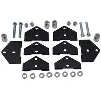 Wsen Front & Rear 2 Full Lift Kit Rise Mount Brackets for ATV Polaris RZR 800 EFI Models
