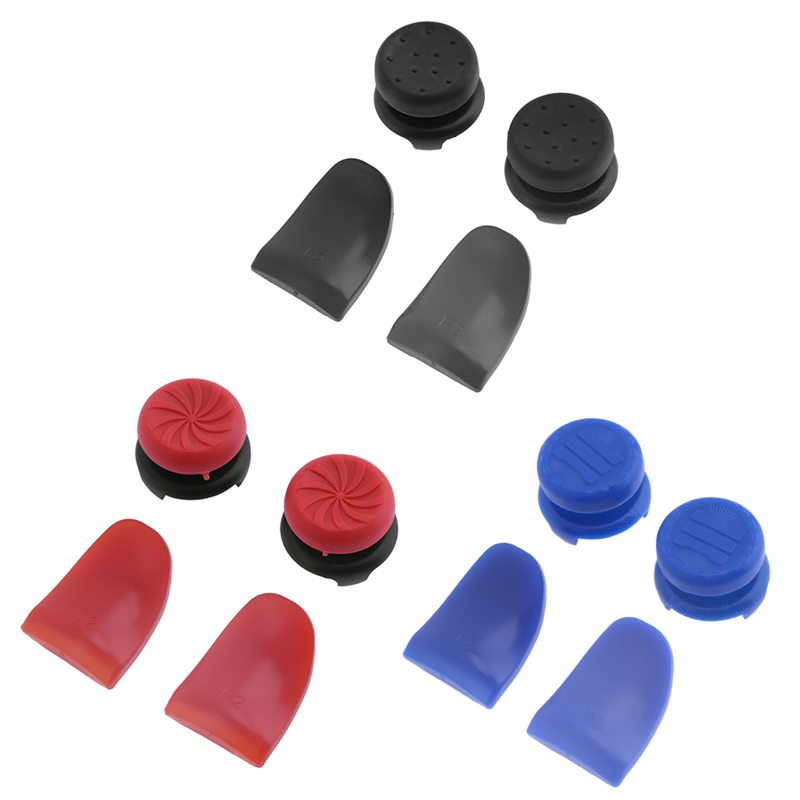 New Arrival for PS4 Controller FPS Grip Caps Universal Thumb Stick L1 L2 R1 R2 Extended Button For Sony PS4 XBox360 Game Control
