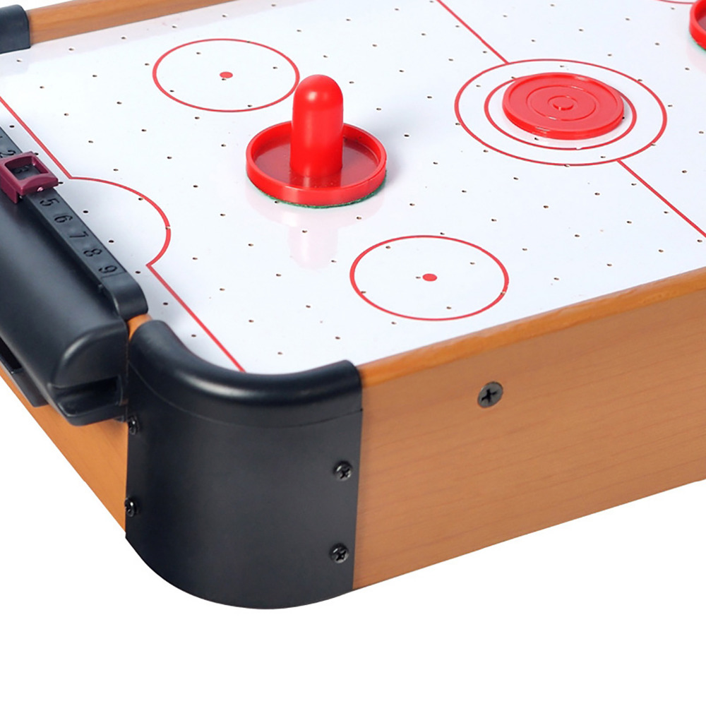 WIN. MAX jeu de Table série jouet Mini Air Hockey avec 2 poussoirs et 1 rondelle pour enfant enfants - 3