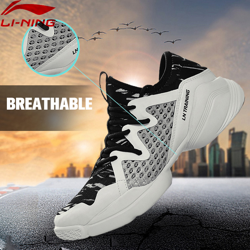 Li-Ning Women's Quick Training Shoes Cushion Flexible Dance Shoes Breathable Sneakers Comfort LiNing Sports Shoes AFHM026 XYA038 original li ning men professional basketball shoes