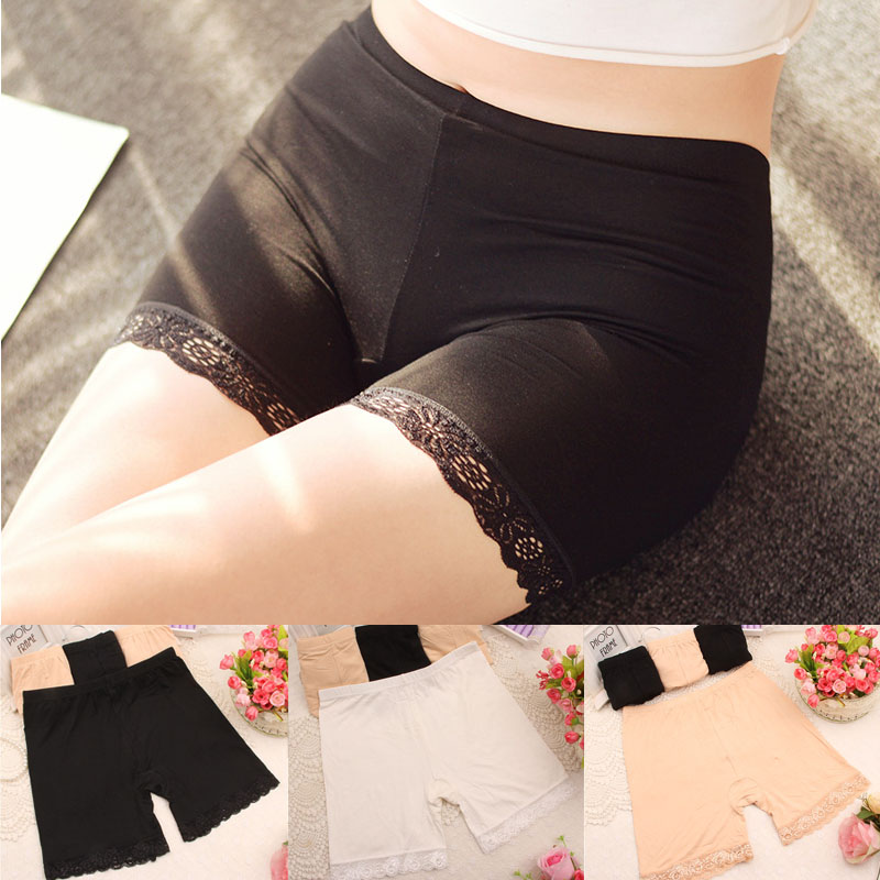 Sale New Summer XL XXXL Short Elastic Comfortable Anti-light Trousers Short Trousers Under Leggings