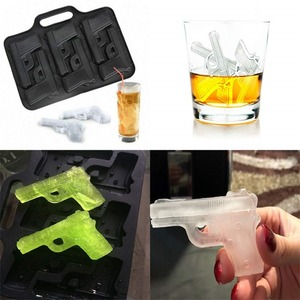 Image 5 - DIY Ice Cube Maker Gun Bullet Shape Ice Cube Tray Silicone Ice Cube Mold Kitchen Bar Party Drinking Accessories