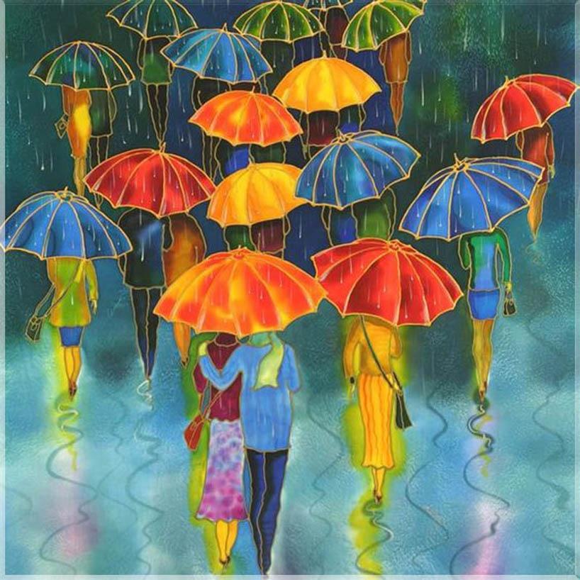 Картинки с зонтиками нарисованные, лет победы