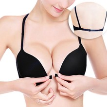 Seamless Push Up Bra Sexy Front Button Closure Bra Underwear Buckle Female Small Chest Underwire Bra