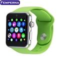 ¡ Caliente! lf07 wearable dispositivos smart watch reloj de sincronización notificador con tarjeta sim smartwatch magia mando para apple iphone android teléfono