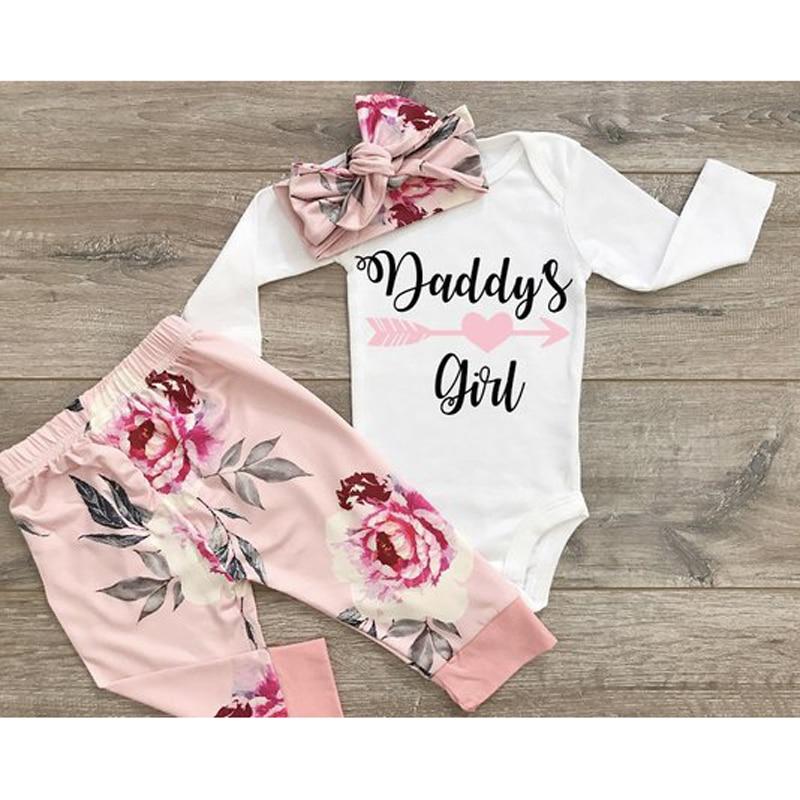 Рождественские комплекты для новорожденных, одежда для маленьких девочек, комбинезон с принтом для папы и маленьких девочек, топы + длинные ...