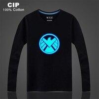 CIP 100 Cotton Neon Print Night Light Punk Tops Agents Of S H I E L