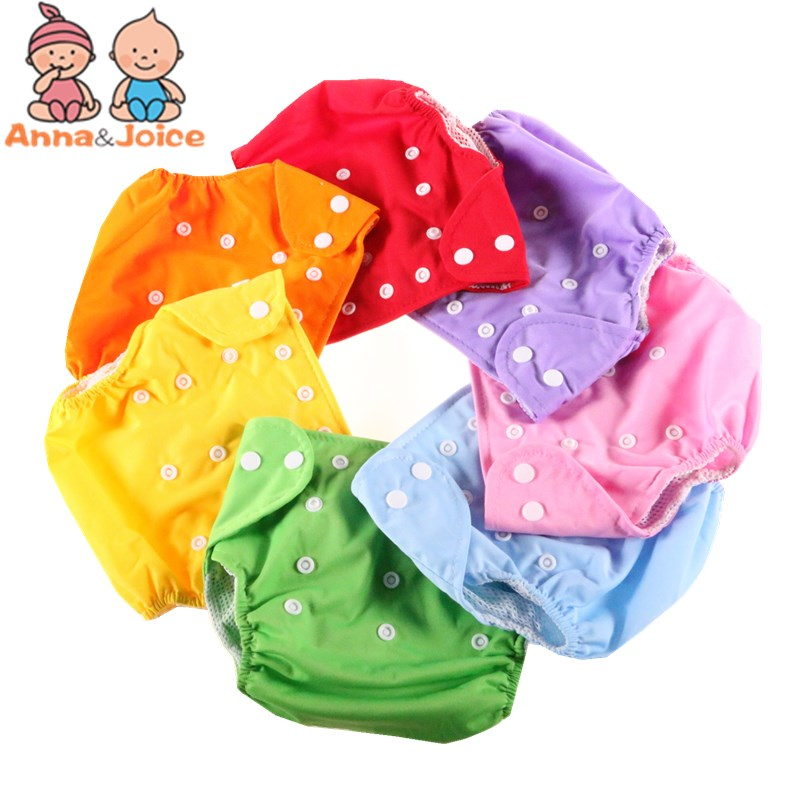 20pc lot Diapers Washable Reusable Nappies Grid Cotton Training Pant Cloth Diaper Baby Fraldas Winter Summer
