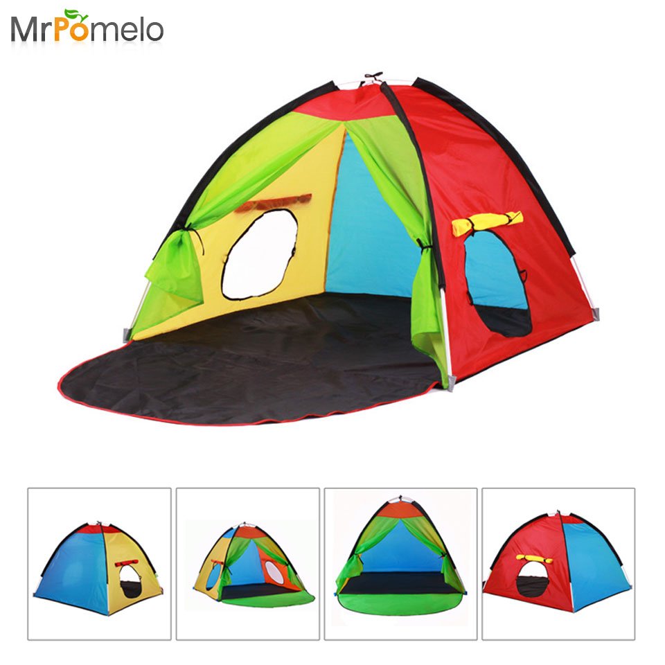 Kids Play Tent Us 45 7 Mrpomelo Children Pop Up Play Tent Indoor Outdoor Beach Tent Sun Shelter 2 Kids Play House With Window Multi Color Easy Assembly In Toy
