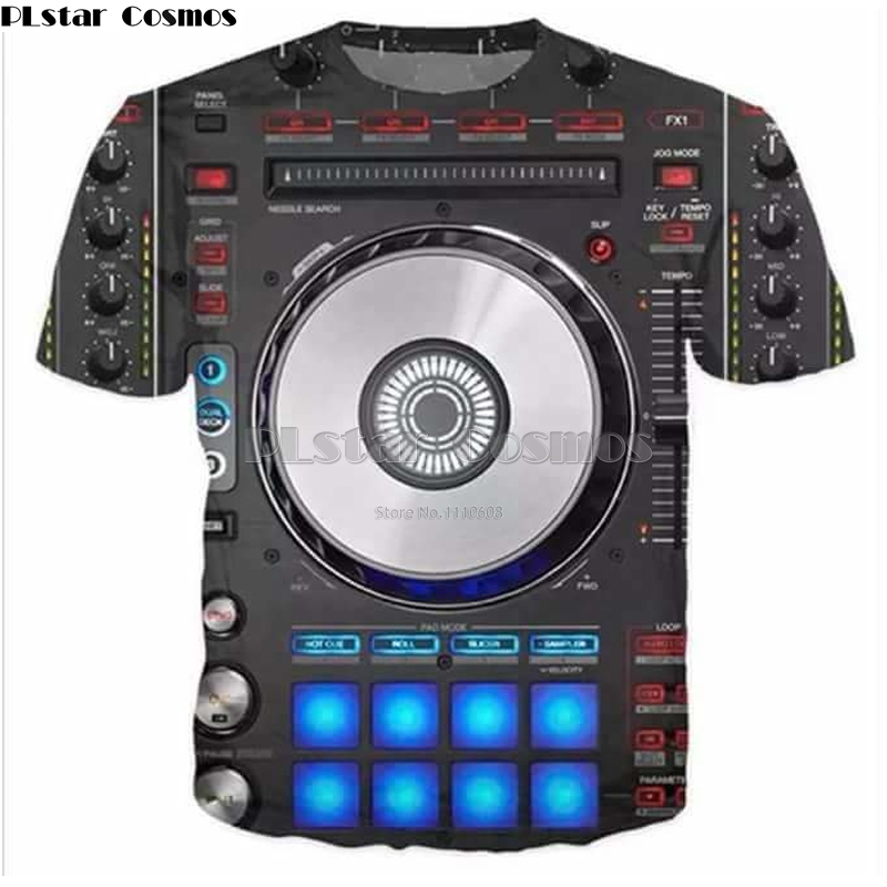 PLstar Cosmos 3D print Women Men t shirt Rock DJ Print Punk Mens tee Hip hop Pullover t shirt Moletom Masculino