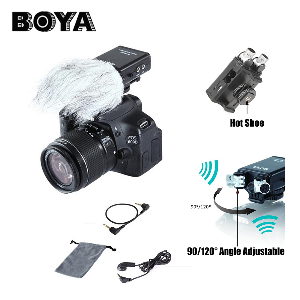 BOYA BY-SM80 Stereo Video Microphone with Windshield for DSLR Camera Microphone Camcorder цена