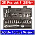 MXITA 1/4DR 1-25Nm 25 PCS torque wrench Bicycle bike tools kit set tool bike repair spanner hand tools