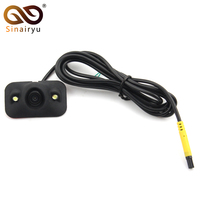 Sinairyu MiNi 360 Degree Rotation Normal Image HD CCD 2 LED Parking Assistance Camera Front Side