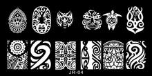 Beauty Tools Mask Halloween Designs Nail Art Stamping Plate Template Stencil XJR04 1PC Stamp TU3W453453W6466