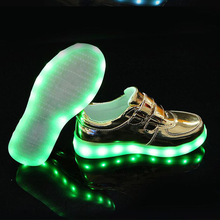 Yeafey Rechargeable Luminous Illuminated Glowing Sneakers Boys Casual Krasovki Led Children Shoes Kids with Lights Up for Girls