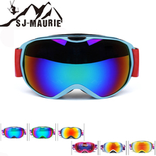 цена на SJ-Maurie Antiparras Ski UV Kids Ski Goggles Climbing Double Lens Anti-fog Mask Glasses Skiing Girls Boys Snowboard Goggles