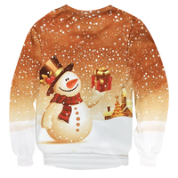 Hot Sale Christmas Snowman Sweatshirt Christmas Snowflake Crewneck Pullover 3D Funny Christmas Gift Hoodies Women Men