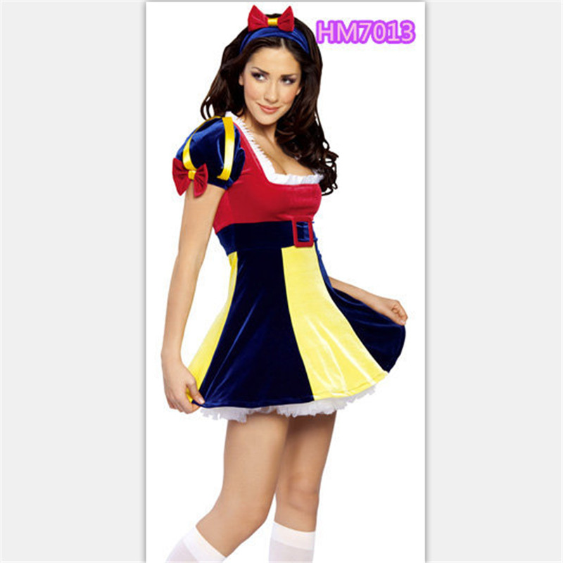 2018 new Plus Size Adult Snow White Costume Fairy tale Clothes high quality  cosplay Dress Carnival Halloween Costumes For Women-in Movie   TV costumes  from ... 991c33589ded