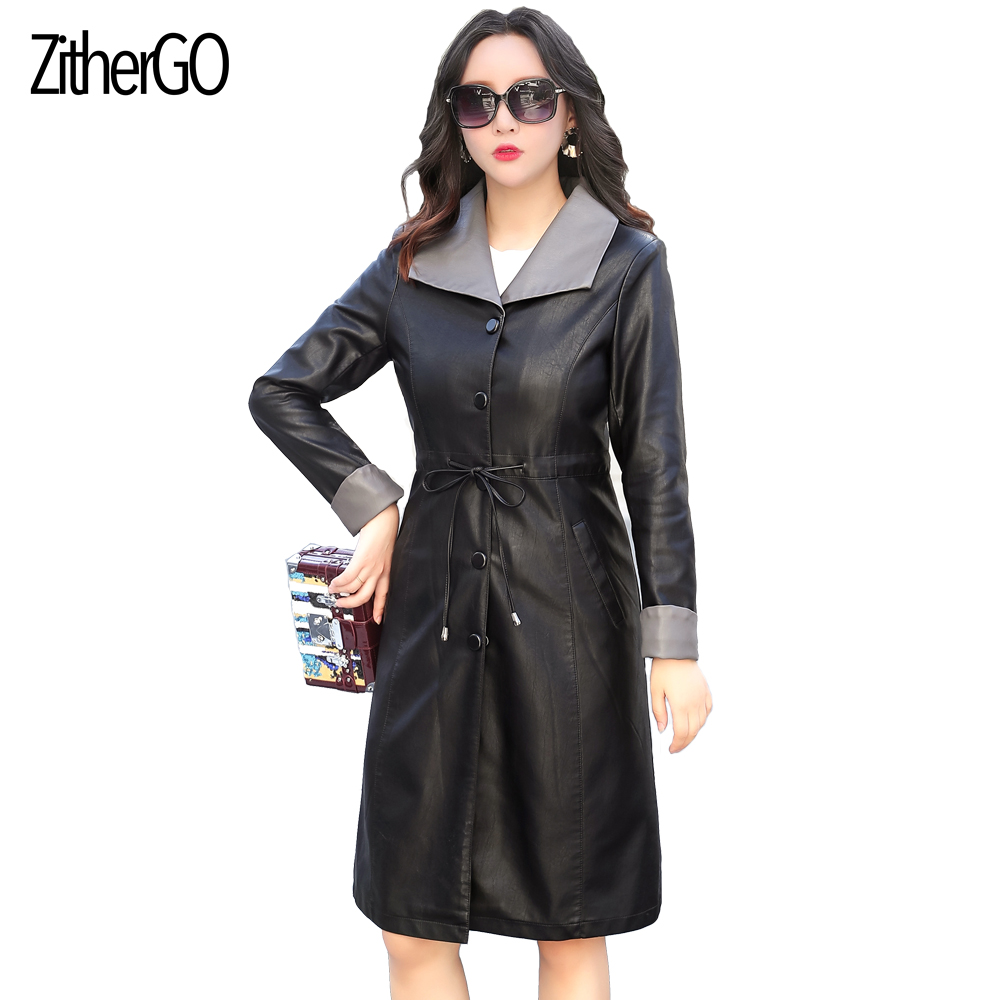 5669722db ZitherGo Autumn/Winter New Women high quality Faux Leather Jackets ...